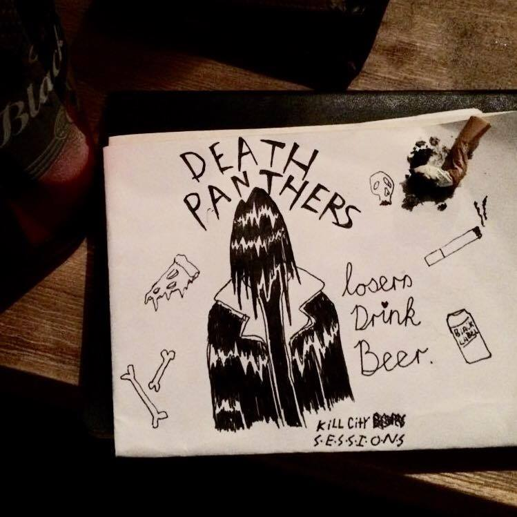 EXCLUSIVE RELEASE - Death Panthers - Losers Drink Beer (Kill City Sessions) EP