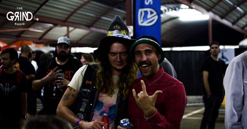 Guys having fun at a rock show